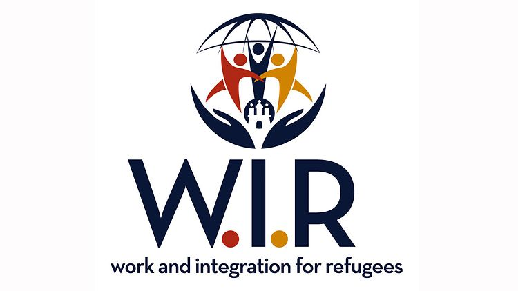 Logo W.I.R. - work and integration for refugees